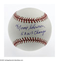 Autographs:Baseballs, Moose Skowron Single Signed Baseball, PSA Mint+ 9.5. A gorgeoussweet spot signature from the first baseman who starred in ...