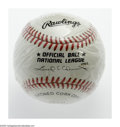 Autographs:Baseballs, Barry Bonds Single Signed Baseball. ONL (Coleman) ball still inshrink wrap sports a perfect blue ink sweet spot signature....
