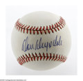 Autographs:Baseballs, Don Drysdale Single Signed Baseball. An ONL (Giamatti) ball servesas a home for a perfect 10/10 blue ink sweet spot signat...