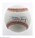 Autographs:Baseballs, Willie Mays Single Signed Baseball. ONL (White) ball offers thestrongest blue ink sweet spot signature you'll ever see fro...