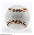 Autographs:Baseballs, Cal Ripken, Jr. Single Signed Baseball. Official 1993 All-Star Gamebaseball offers a 10/10 blue ink sweet spot signature f...