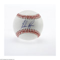 Autographs:Baseballs, Nolan Ryan Single Signed Baseball. Absolutely unimprovable specimenis all the more impressive as it dates to the Strike Ou...