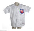 Autographs:Jerseys, Andre Dawson Signed Jersey. The pride of Wrigley. A perfect replicaof Dawson's home white gamer is signed on the chest in...