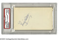 Autographs:Index Cards, Gabby Hartnett Signed Index Card. From 1922 through 1940, thislegendary Hall of Famer was the hero of Wrigley. His perfec...