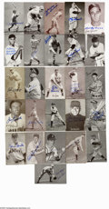 Autographs:Sports Cards, Baseball Stars Signed Exhibit Cards Lot of 138. Fantastic assortment of vintage exhibit cards were issued during the featur...