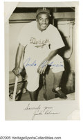 Autographs:Photos, Circa 1948 Jackie Robinson Signed Photograph. Exceptional image of the young baseball pioneer in uniform is signed in marve...