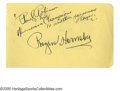 "Autographs:Others, Rogers Hornsby Signed Album Page. Flawless 10/10 fountain peninscription reads ""Paul Robinson & his Harmonica Champions. ..."