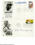 Autographs:Others, Baseball Stars Signed Cachets Lot of 8. Strong ink signatures onvarious first day covers from Minnie Minoso, Bill Wambsgan...