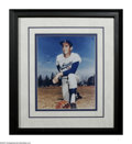 "Autographs:Photos, Sandy Koufax Signed Photograph. Classic 8x10"" color image of theHOF Dodger hurler is signed with an impressive blue sharpi..."