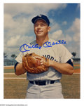 "Autographs:Photos, Mickey Mantle Signed Photographs Lot of 4. Four different images of the Mick in Yankee uniform, each measuring 8x10"" in siz..."