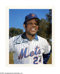 Autographs:Photos, Willie Mays Vintage Signed Photograph. Late career image of Say Heywith the Mets was signed during the same era, as is evi...