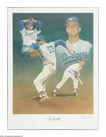 """Autographs:Others, Don Drysdale Signed Lithograph. Fine work by noted artistChristopher Paluso is signed and numbered """"AP 28/50"""" by theartis..."""
