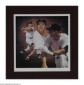 "Autographs:Others, Mickey Mantle Signed Lithograph. Majestic work by Danny Day issigned and numbered ""301/536"" by the artist in the lower mar..."