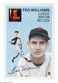 Autographs:Others, Ted Williams Signed Print. Great reinterpretation of Williams' 1954Topps card is signed by the subject in flawless blue sh...