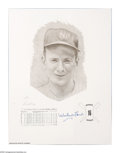 Autographs:Others, New York Yankees Signed Prints Lot of 3. Fine artistic renderingsof these Yankee legends are part of artist Daniel Cooney'...