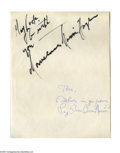 Boxing Collectibles:Autographs, Boxing Legends Autographs Lot. Interesting pairing from the squared circle offers three flawless autographs. 1) Jack Demps...