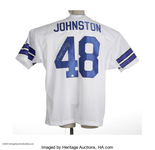 646c7c6a3cd ... Football Collectibles:Others, Daryl Johnston Signed Jersey. Perfect  silver sharpie signature and