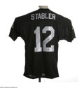 Football Collectibles:Others, Kenny Stabler Signed Jersey. Excellent Oakland Raiders uniform sports a perfect black sharpie autograph on the rear numeral...
