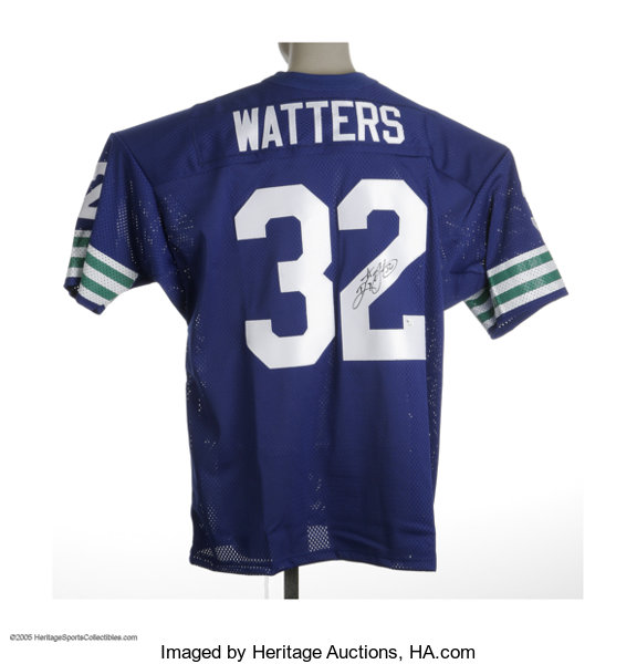 buy popular 7babc baadb Ricky Watters Signed Jersey. Fine mesh replica of the | Lot ...