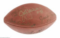 Football Collectibles:Balls, Pittsburgh Steelers Legends Signed Football. Official N.F.L. ball offers strong sharpie signatures from Jack Hamm, Andy Rus...