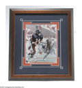 Football Collectibles:Others, Chicago Bears Legends Signed Photographs Lot of 3. Windy City warriors! Spectacular 10/10 blue sharpie signatures appear o...