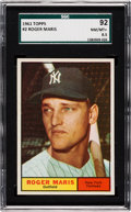 Baseball Cards:Singles (1960-1969), 1961 Topps Roger Maris #2 SGC 92 NM/MT+ 8.5 - Only One Higher....