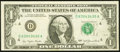 Error Notes:Ink Smears, Green Ink Smears on Back Error Fr. 1909-D $1 1977 Federal ReserveNote. Very Fine.. ...