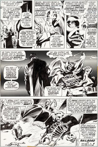 Gene Colan and Tom Palmer Tomb of Dracula #16 Story Page 19 Original Art (Marvel, 1974)