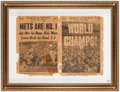 Autographs:Others, 1969 New York Miracle Mets Signed Daily News Newspaper. ...
