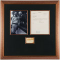 Autographs:Letters, Ty Cobb & Kenesaw Mountain Landis Signed Framed Display. ...
