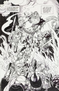 Original Comic Art:Splash Pages, Gil Kane The Ring of the Nibelung Splash Page Original Art(DC, 1989)....