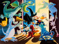 Memorabilia:Disney, Carl Barks Halloween in Duckburg Signed Limited Edition Lithograph #174/395 (Another Rainbow, 1992)....