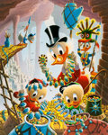 Memorabilia:Disney, Carl Barks First National Bank of Cibola Signed Limited Edition Lithograph Print #174/345 (Another Rainbow, 1987)...