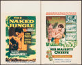 "Movie Posters:Adventure, The Naked Jungle & Other Lot (Paramount, 1954). Window Cards(2) (14"" X 22""). Adventure.. ... (Total: 2 Items)"