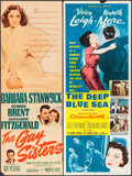 "Movie Posters:Drama, The Gay Sisters & Other Lot (Warner Brothers, 1942). Trimmed Insert (12.5"" X 35.75"") & Insert (14"" X 36""). Drama.. ... (Total: 2 Items)"