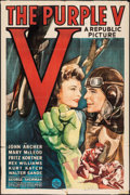 "Movie Posters:War, The Purple V (Republic, 1943). One Sheet (27"" X 41""). War.. ..."