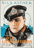 """Movie Posters:Foreign, Wrath of the Seas (A-B Continental, 1926). Swedish One Sheet (28"""" X 39.5""""). Adventure.. ..."""