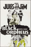 """Movie Posters:Foreign, Jules and Jim/Black Orpheus Combo (Janus Films, R-1965). One Sheet (27"""" X 41""""). Foreign.. ..."""
