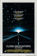 "Movie Posters:Science Fiction, Close Encounters of the Third Kind (Columbia, 1977). One Sheet (27""X 41"") & Program (11"" X 15). Science Fiction.. ... (Total: 2Items)"