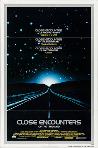 """Close Encounters of the Third Kind (Columbia, 1977). One Sheet (27"""" X 41"""") & Program (11"""" X 15). Scie..."""