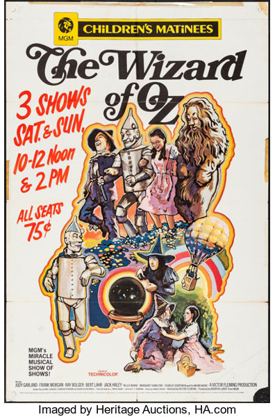 Movie PostersFantasy The Wizard Of Oz MGM R 1970