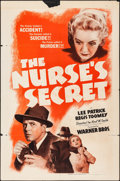 "Movie Posters:Mystery, The Nurse's Secret (Warner Brothers, 1941). One Sheet (27"" X 41"").Mystery.. ..."