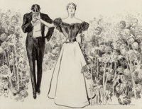 Charles Dana Gibson (American, 1867-1944) Garden of Youth, Life magazine interior illustration, 1897