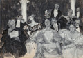 Fine Art - Painting, American, Albert Beck Wenzell (American, 1864-1917). A CaptiveAudience. Gouache on paper. 27-1/2 x 38-1/2 inches (69.9 x 97.8cm)...