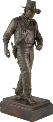Robert Summers (American, b. 1940) John Wayne, 1981 Bronze with brown patina 33-1/2 inches (85.1