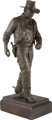 Robert Summers (American, b. 1940) John Wayne, 1981 Bronze with brown patina 33-1/2 inches (85.1 cm) high on a 4 inch