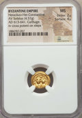 Ancients:Byzantine, Ancients: Heraclius (AD 610-641) & Heraclius Constantine (AD613-641). AV solidus (4.57 gm). NGC MS 2/5 - 4/5....