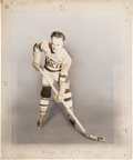 "Hockey Cards:Singles (Pre-1960), Unique 1933 V357 World Wide Gum ""Ice Kings"" Charles (Rabbit)McVeigh Original Art. ..."