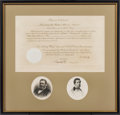 Miscellaneous Collectibles:General, 1869 President Ulysses S. Grant Signed Document as President....