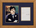 Non-Sport Cards:General, 1969 Charlie Chaplin Typed Signed Letter....